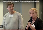 Mats Larsson och Maria Svensson Hallberg i webbsändning.