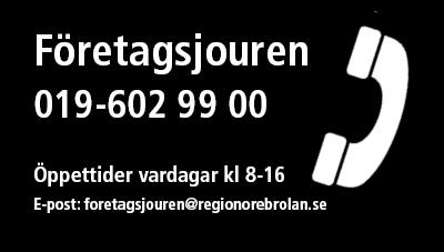 Företagsjouren ring 019-602 9900