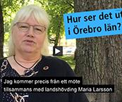 Skärmklipp från film med Irén Lejegren