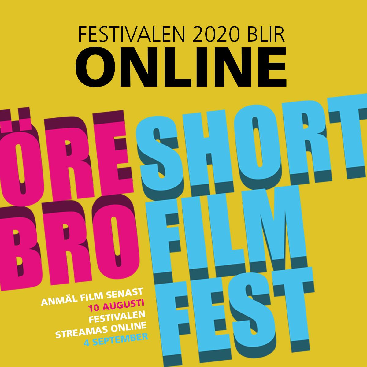 Örebro Short Film Fest visas online 4 september