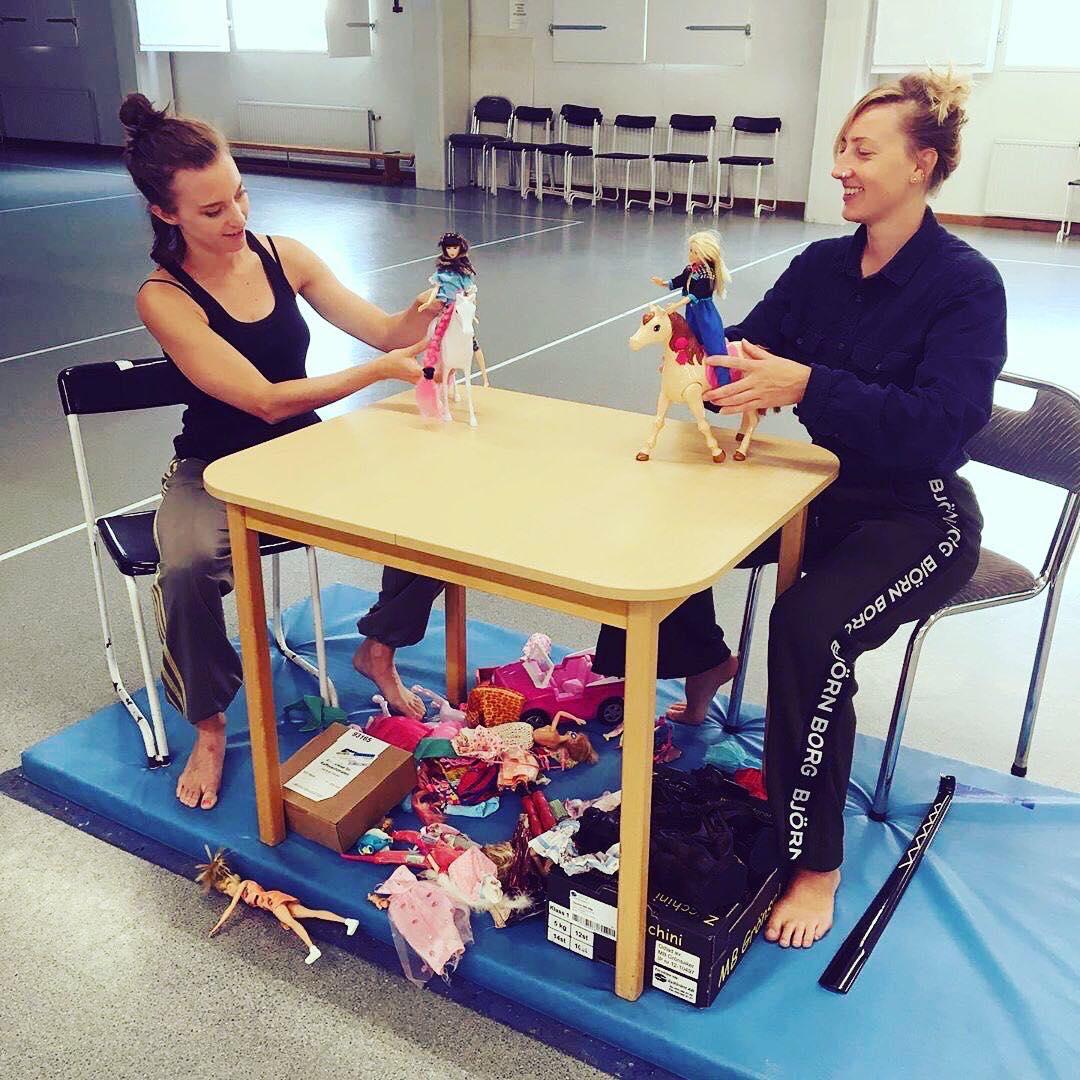 Dansproduktionen Barbie, dansresidens med Ellinor Ljungkvist i Lindesberg
