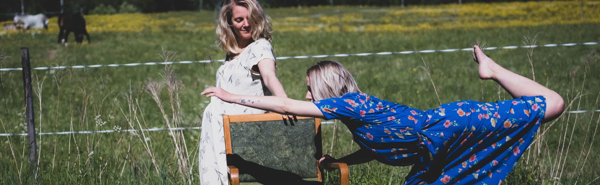 Danskonstnärerna My Prim och Karin Quist, Foto: Thomas Hegefors