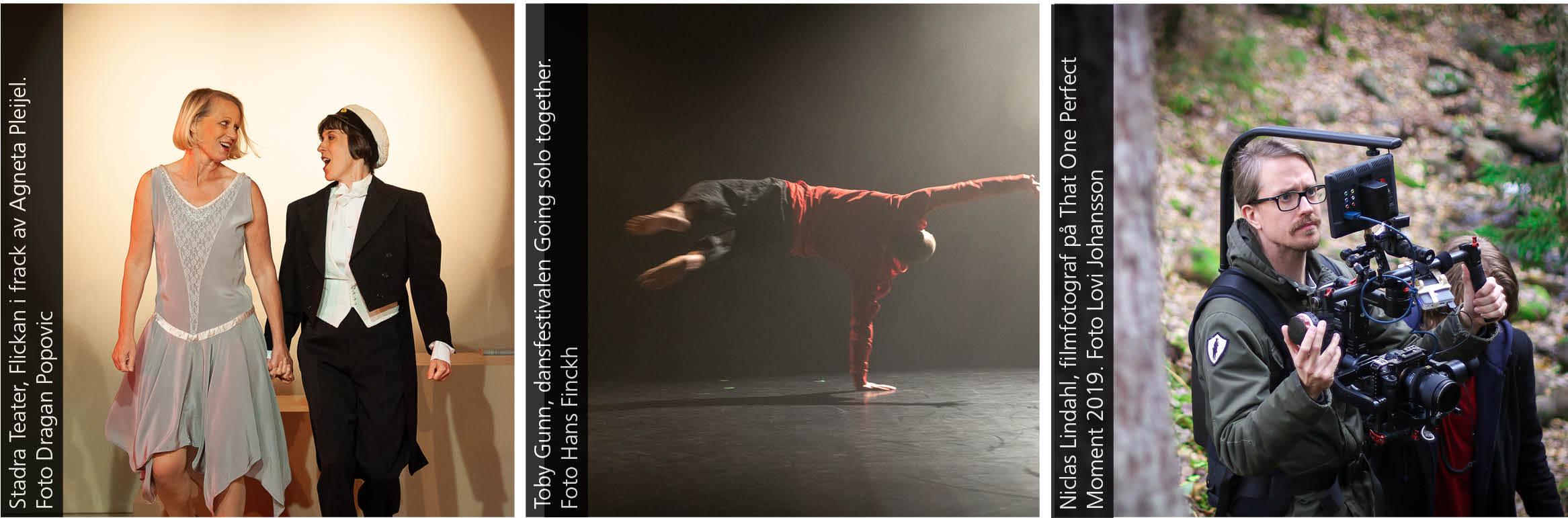 Flickan i frack - Stadra Teater, Toby Gunn - Going solo together, Niclas Lindahl, filmfotograf.