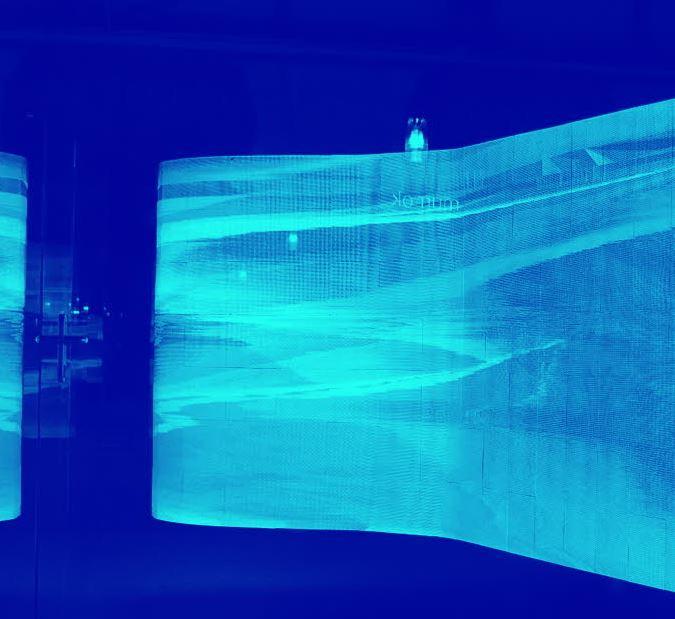 Abstrakt blå bild