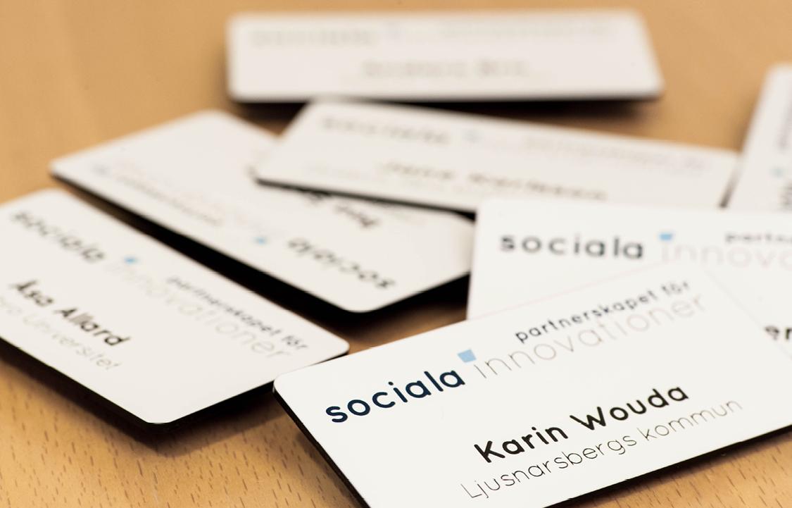 Namnskyltar Partnerskapet för sociala innovationer