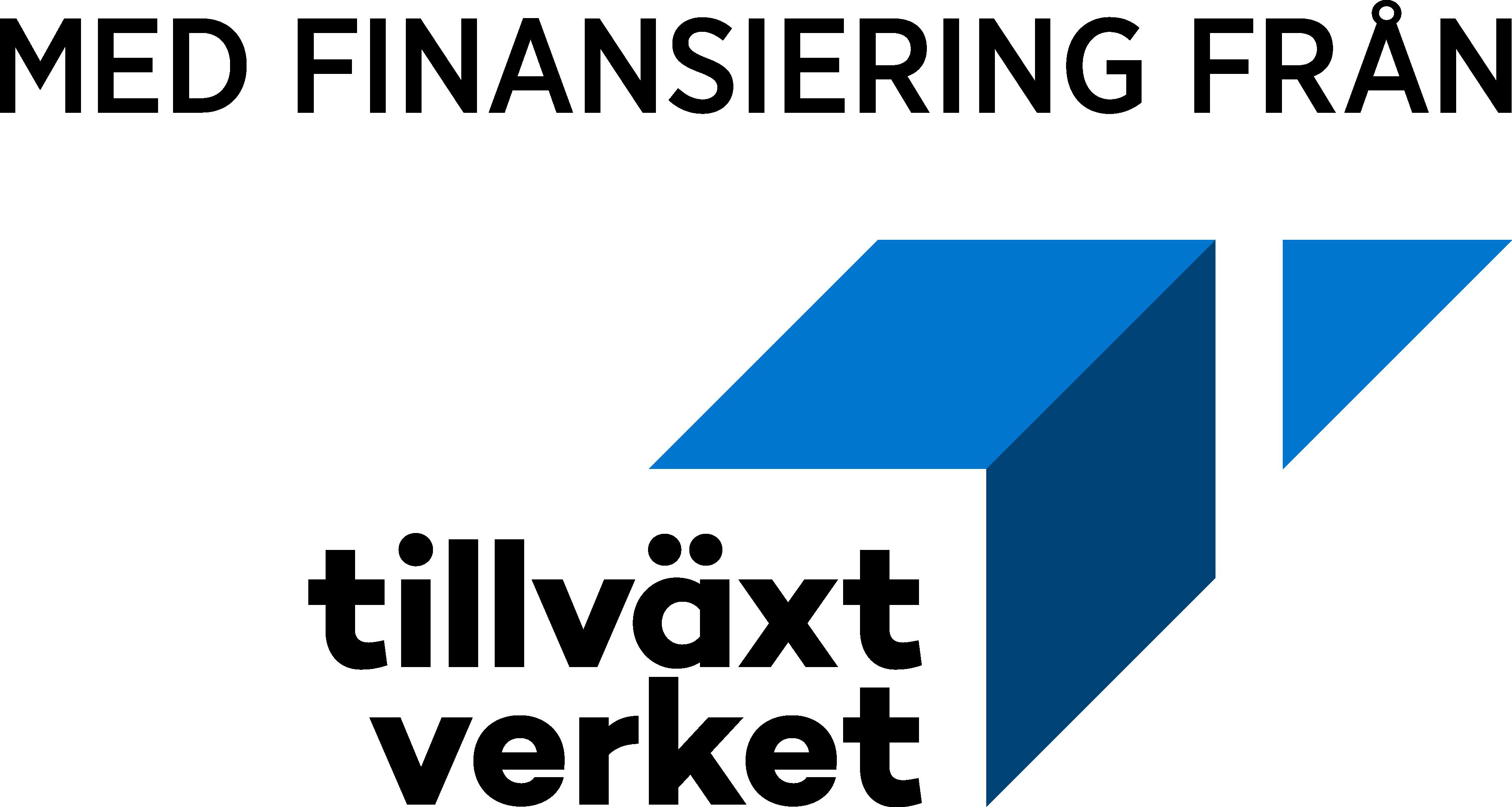 Med finanisering av Tillväxtverket logotyp
